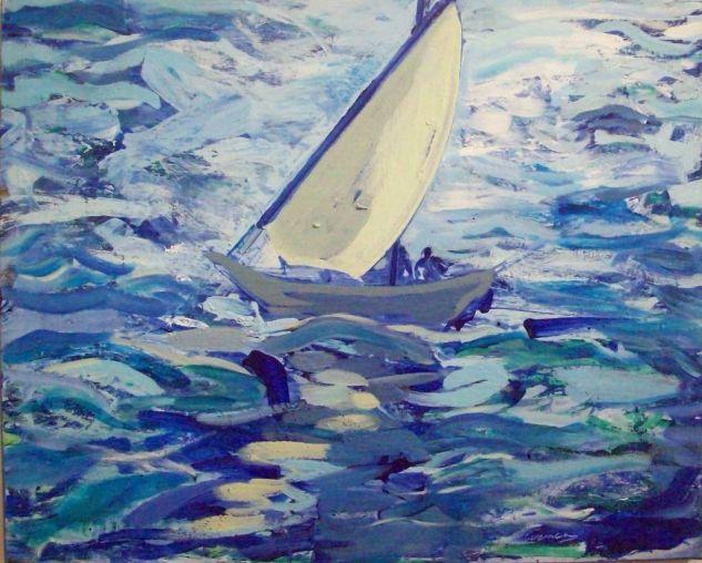 paisaje de mar ondulado