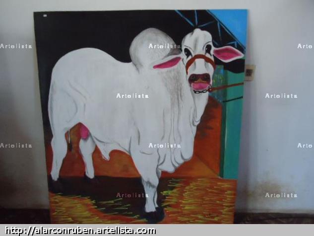 toro de exposicion Acrílico Animales Tabla