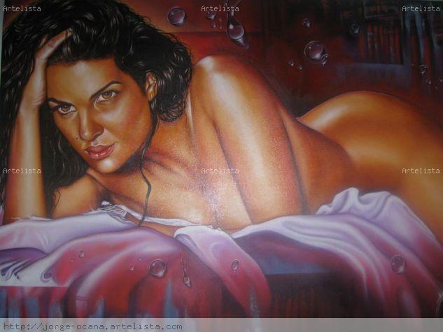 gotas de sensualidad Óleo Lienzo Desnudos