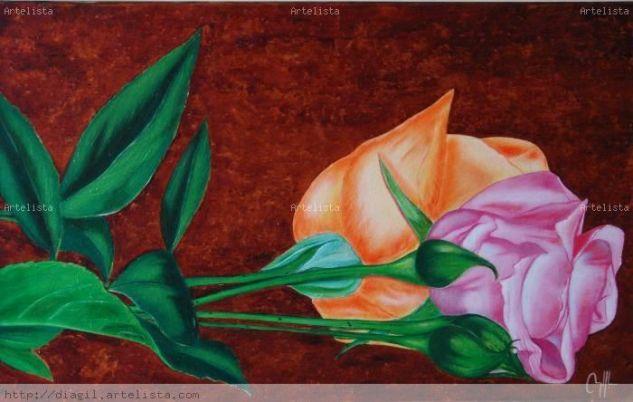rosas Óleo Lienzo Otros