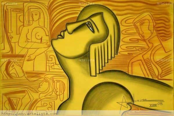SELECCION ESPECIAL 20 OBRAS CLASE EXPORTACION 2008 XI Mixed media Canvas Figure Painting