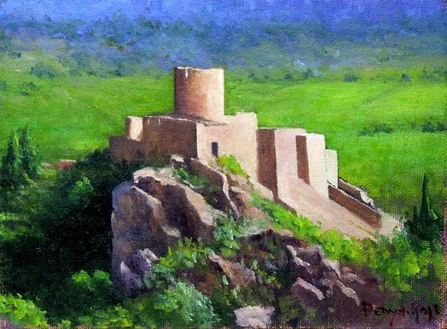 Castillo de Vilafamés Landscaping Oil Canvas