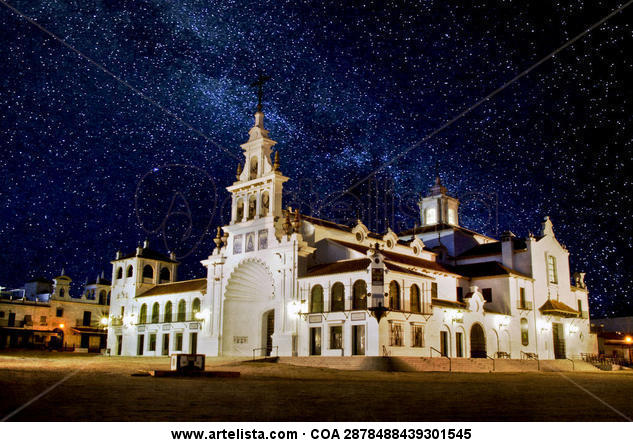 la ermita de noche