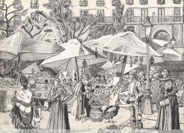 mercado en la Plaza Mayor Tinta