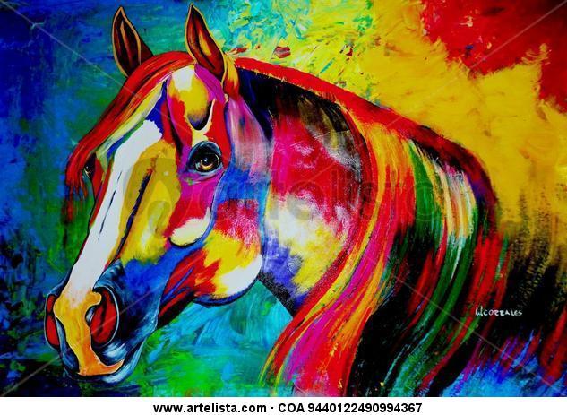 """de la serie """"equus"""" Animales Acrílico Tela"""