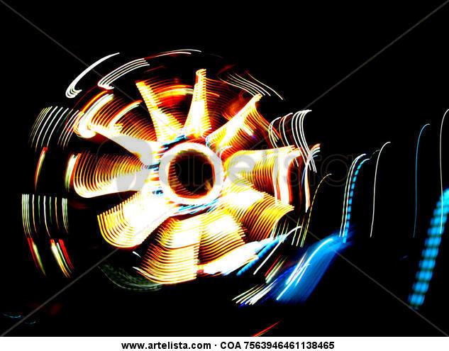 Rueda Luna Conceptual/Abstracto Color (Digital)