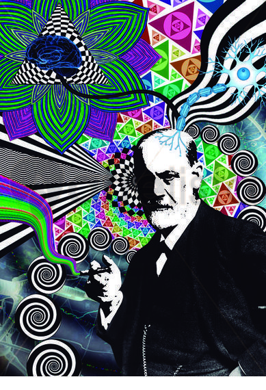 Psico Freud Papel Retrato