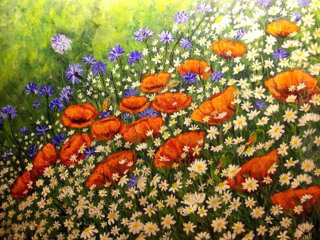 PRIMAVERA..... Acrílico Tabla Floral