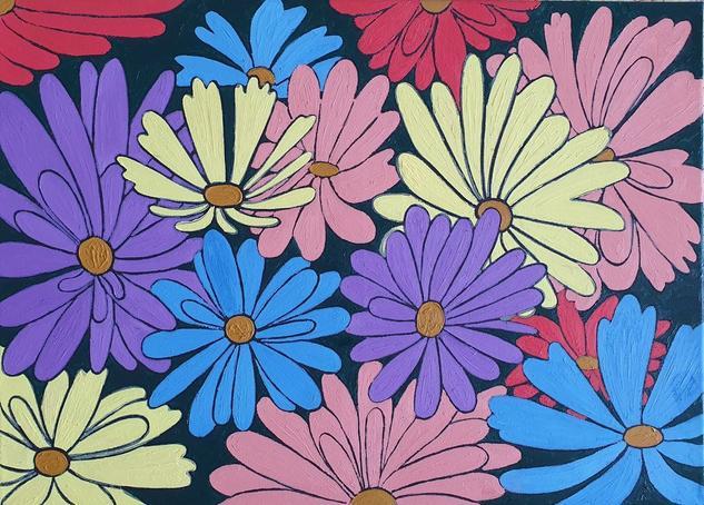 Viva la primavera Floral Óleo Lienzo
