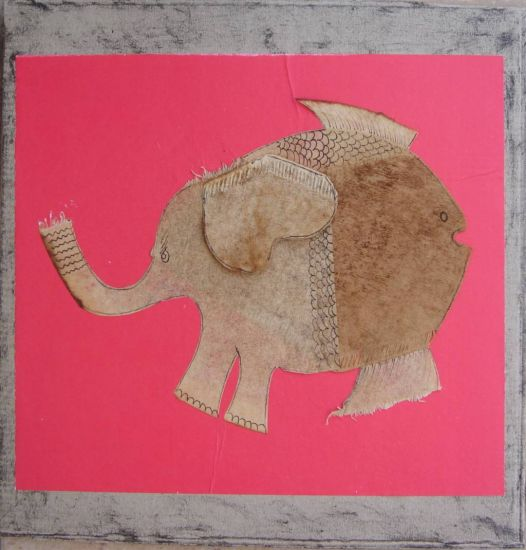 Elefante acuático Cartulina Animales