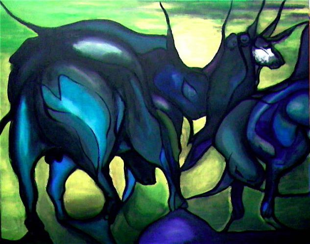 Toros de Atacama Acrílico Lienzo Animales