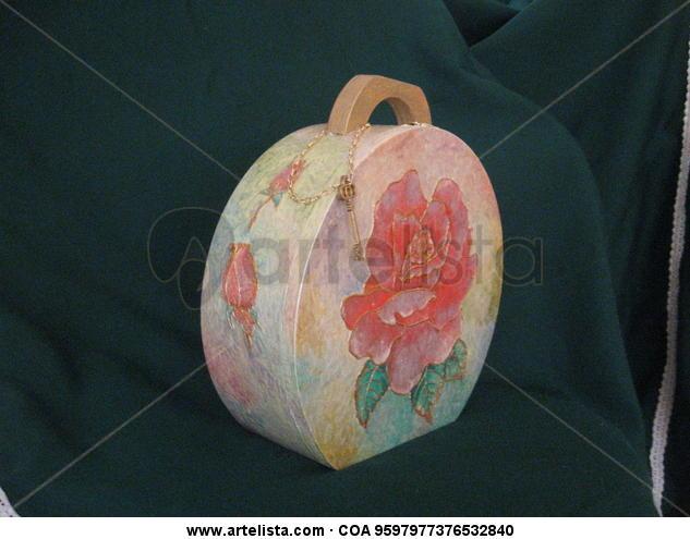 Maleta Tabla De vidriera Floral