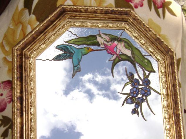 ORQUIDEA MIEL Floral De vidriera Tabla