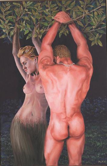 Apolo abrazando a Dafne durante la metamorfosis Óleo Desnudos Lienzo