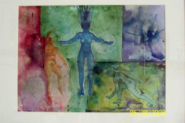 Spiritual Balance Papel Acuarela Figura