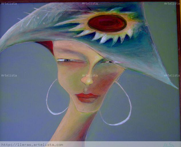 Diva con Sombrero Lienzo Acrílico Retrato