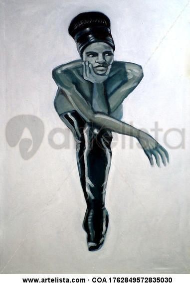 La Negra Tela Óleo Desnudos