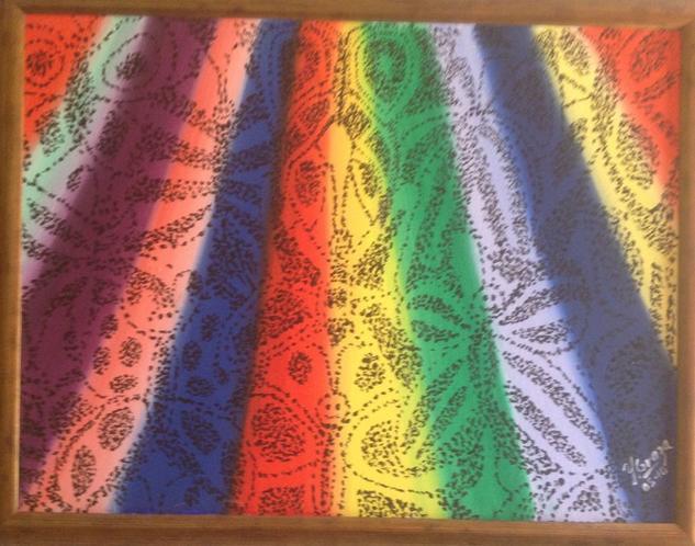 Rainbow Acrílico Otros Lienzo