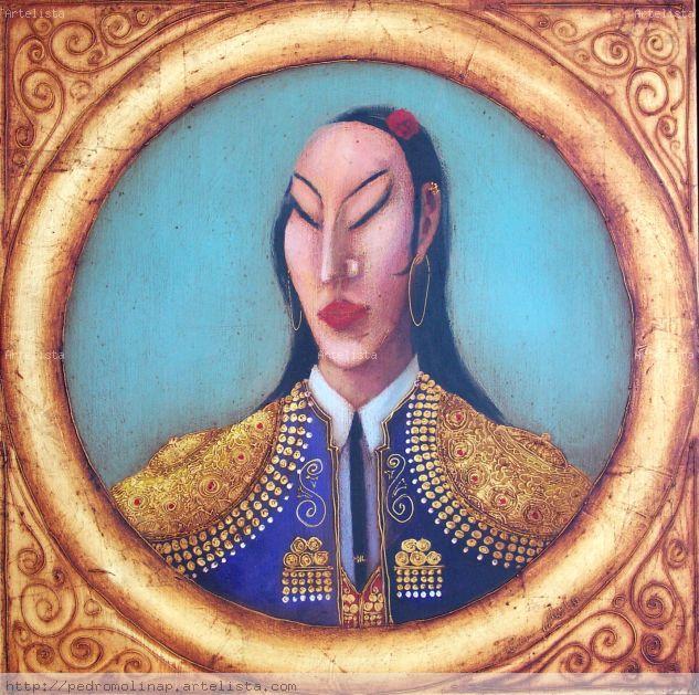 LA CHINA Óleo Lienzo Figura