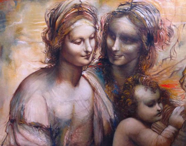 Boceto de Leonardo Lienzo Óleo Figura