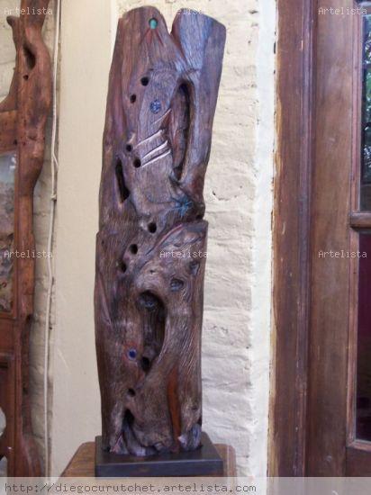 CUEVAS DE CHACAY Wood Abstract