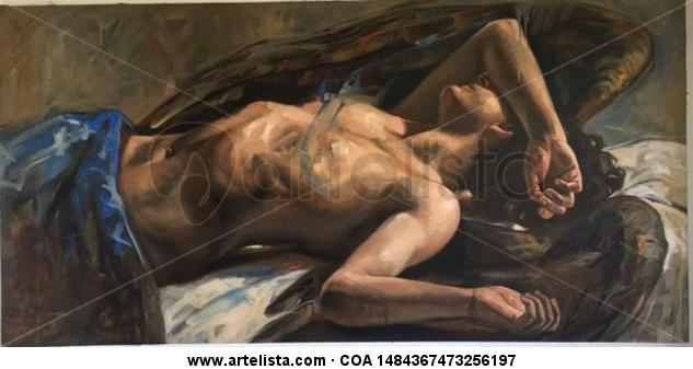 Angel Caido Oil Nude Paintings Canvas