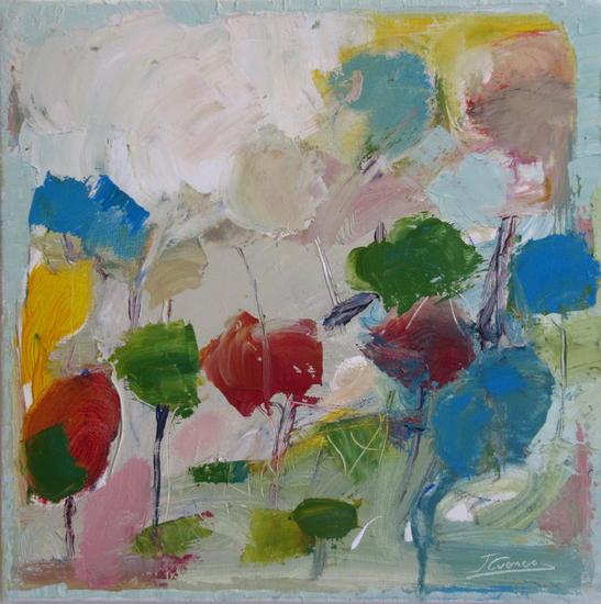 PAISAJE CON ÁRBOLES (Primavera) Canvas Acrylic Landscaping