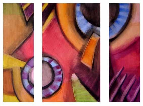 Triptico 2 Pastel Papel