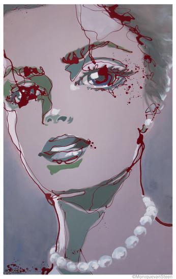 Reina de Picas   2012 Media Mixta Retrato Lienzo