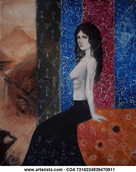 Retrato Tabla Óleo Desnudos