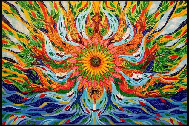 Mandala de la Esperanza Lienzo Óleo Paisaje