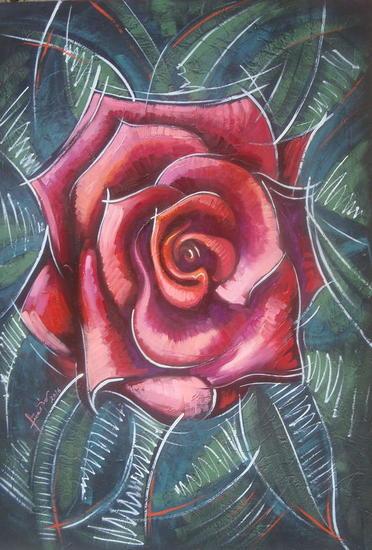 rosa Otros Óleo Floral