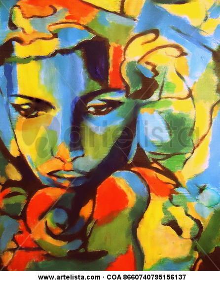 Ephemeral Canvas Acrylic Portrait