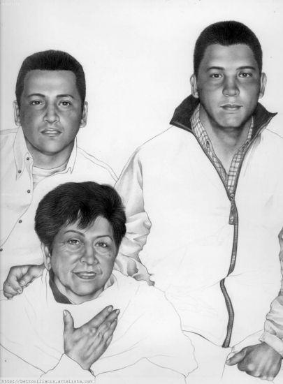 retrato de la familia lozano Lápiz