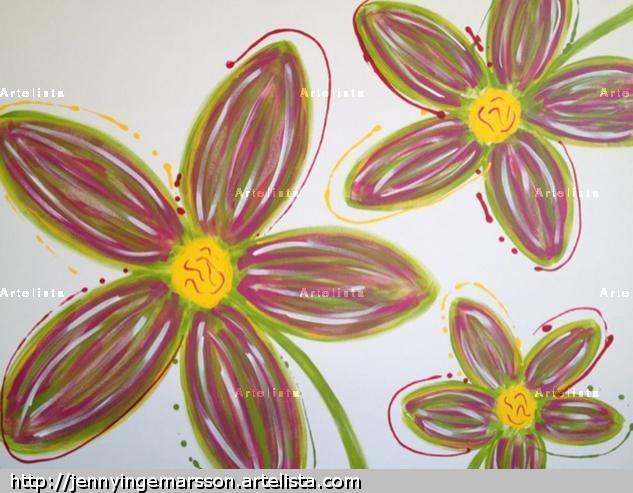 Goda ting är tre Lienzo Acrílico Floral