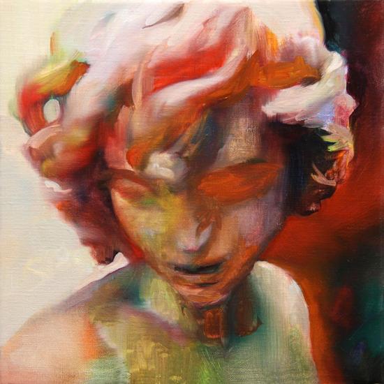 Mix in the red Lienzo Óleo Retrato