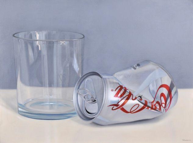 Glass and coke light Óleo Lienzo Bodegones