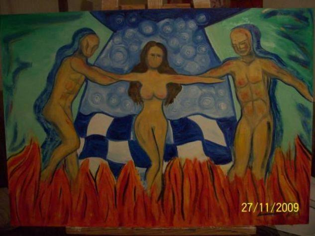 Entre el cielo y el infierno Panel Oil Nude Paintings