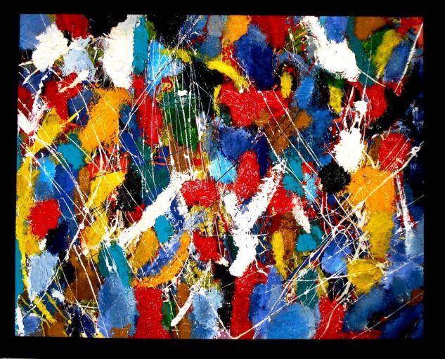 De la serie bosques abstractos Lienzo Óleo Paisaje