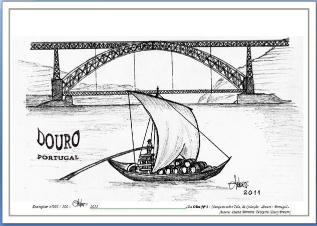 Obra nº 5 «DOURO - PORTUGAL» Cartulina Tinta Paisaje