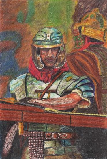 Legionario esperando la batalla Lápiz