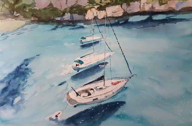 Baleares Papel Acuarela Marina
