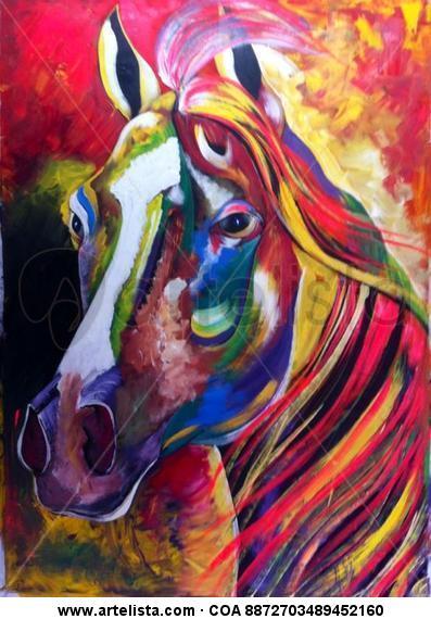 """de la serie """"equus"""" Tela Acrílico Animales"""