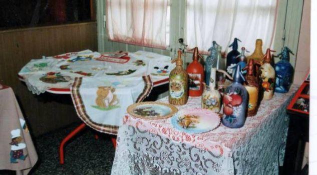 botellas, pintadas,paisaje,flores,acrilico Acrílico Cristal Otros