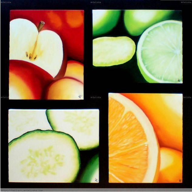 Frutas elegantes / Elegant fruits Óleo Lienzo Bodegones