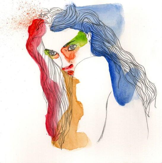 colorfaces 002 Portrait Paper Watercolour