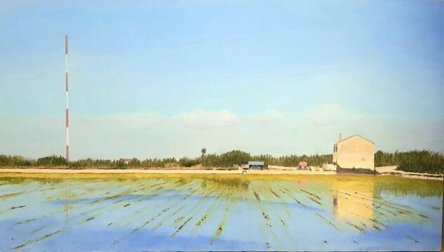 ARROZAL CON ANTENA Landscaping Oil Panel