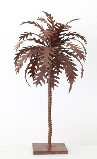 Palmera óxido pequeña - José Onieva Figurativa Metal