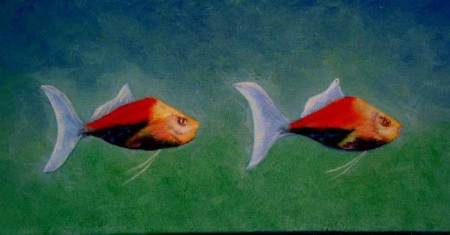 FISH, PECES Óleo Lienzo Animales