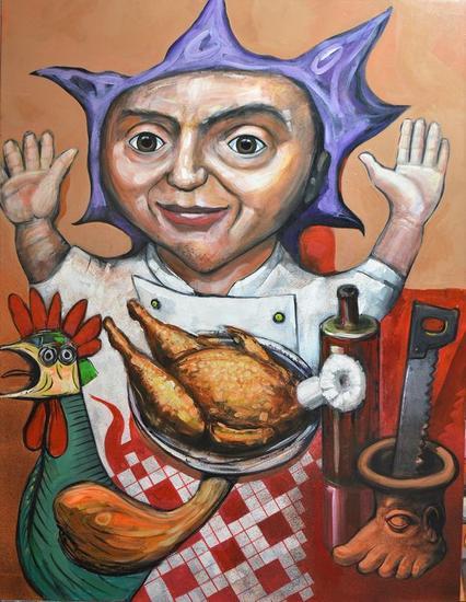 el pollo de Picasso Figura Acrílico Lienzo
